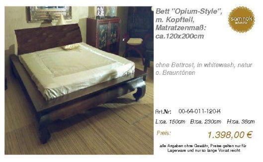 00-64-011-120-K-Bett _Opium-Style_, m. Kopf
