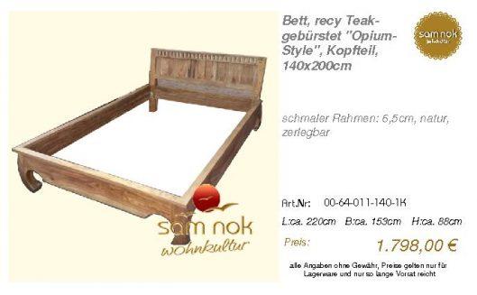 00-64-011-140-1K-Bett, recy Teak-gebürstet _