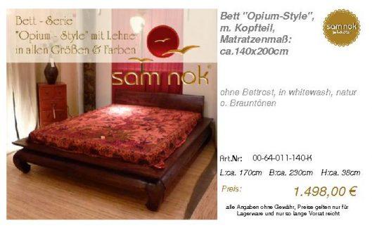 00-64-011-140-K-Bett _Opium-Style_, m. Kopf