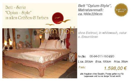 00-64-011-160-220-Bett _Opium-Style_, Matratz
