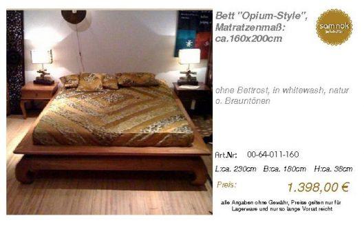 00-64-011-160-Bett _Opium-Style_, Matratz