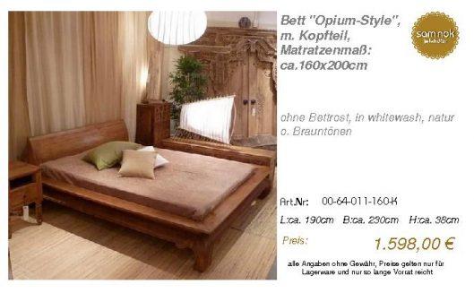 00-64-011-160-K-Bett _Opium-Style_, m. Kopf