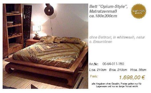 00-64-011-180-Bett _Opium-Style_, Matratz