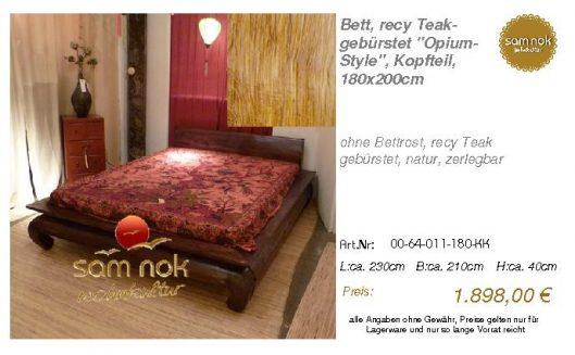 00-64-011-180-KK-Bett, recy Teak-gebürstet _