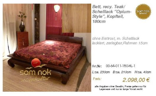 00-64-011-180-KL-1-Bett, recy. Teak_ Schelllac