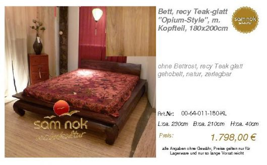 00-64-011-180-KL-Bett, recy Teak-glatt _Opiu