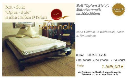 00-64-011-200-Bett _Opium-Style_, Matratz