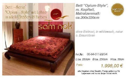00-64-011-220-K-Bett _Opium-Style_, m. Kopf