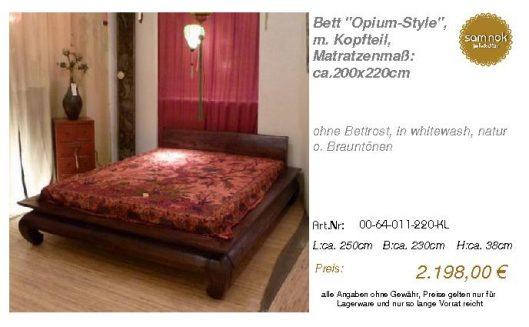 00-64-011-220-KL-Bett _Opium-Style_, m. Kopf