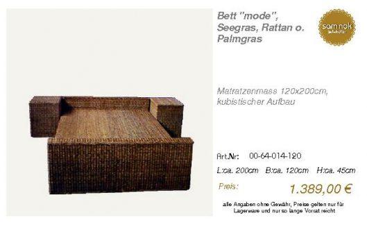00-64-014-120-Bett _mode_, Seegras, Ratta