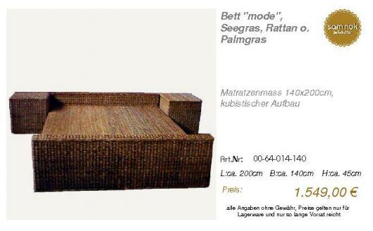 00-64-014-140-Bett _mode_, Seegras, Ratta