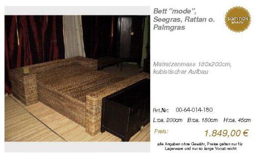 00-64-014-180-Bett _mode_, Seegras, Ratta