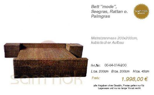 00-64-014-200-Bett _mode_, Seegras, Ratta