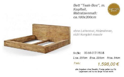 00-64-017-180-B-Bett _Teak-Box_, m. Kopftei