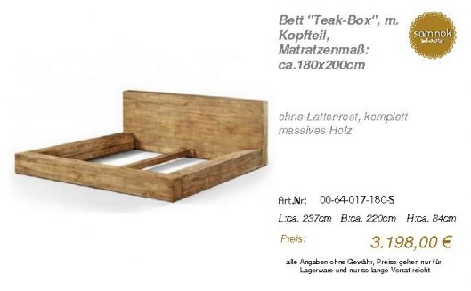 00-64-017-180-S-Bett _Teak-Box_, m. Kopftei