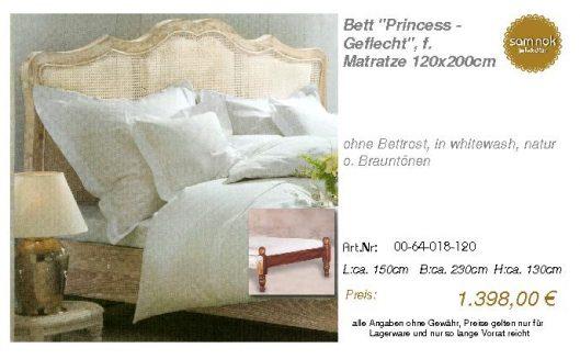00-64-018-120-Bett _Princess - Geflecht_,