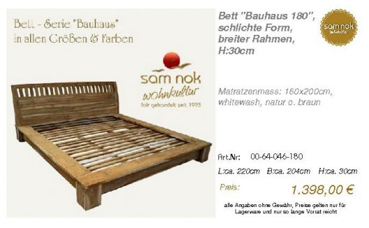 00-64-046-180-Bett _Bauhaus 180_, schlich