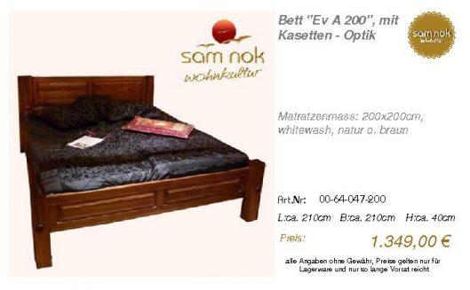 00-64-047-200-Bett _Ev A 200_, mit Kasett