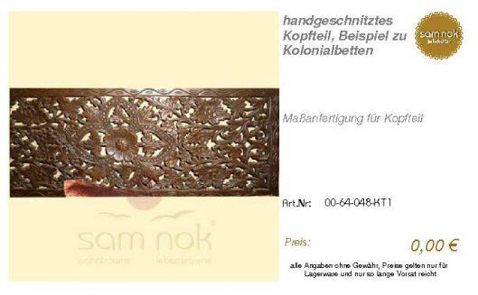 00-64-048-KT1-handgeschnitztes Kopfteil,