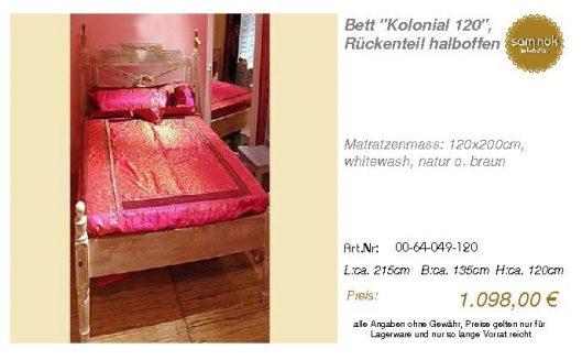 00-64-049-120-Bett _Kolonial 120_, Rücken