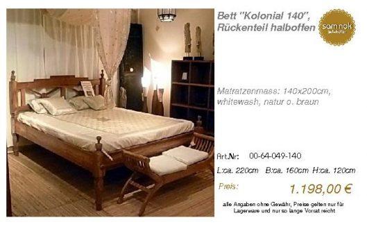 00-64-049-140-Bett _Kolonial 140_, Rücken