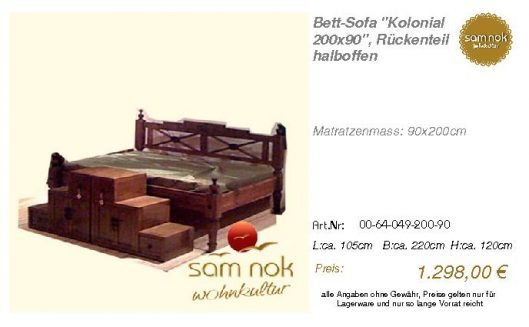 00-64-049-200-90-Bett-Sofa _Kolonial 200x90_
