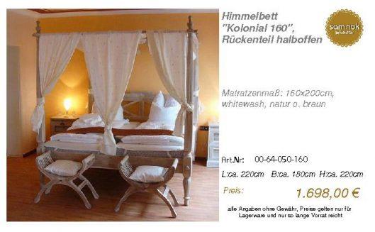 00-64-050-160-Himmelbett _Kolonial 160_,