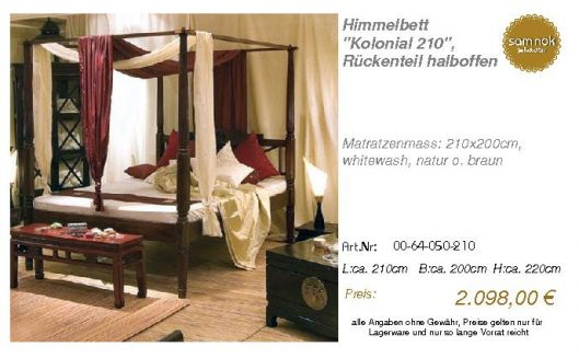 00-64-050-210-Himmelbett _Kolonial 210_,