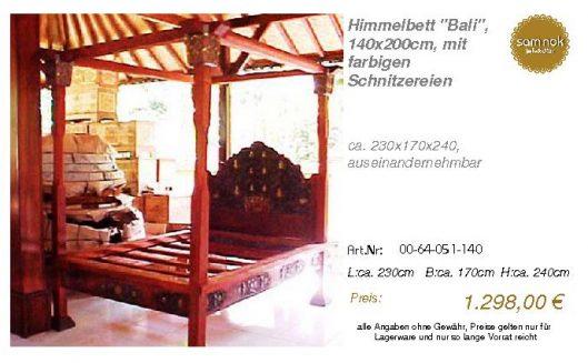 00-64-051-140-Himmelbett _Bali_, 140x200c