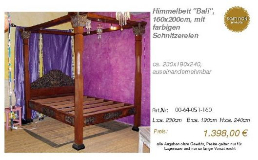 00-64-051-160-Himmelbett _Bali_, 160x200c