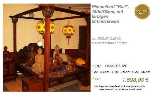 00-64-051-180-Himmelbett _Bali_, 180x200c