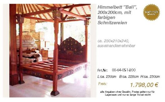 00-64-051-200-Himmelbett _Bali_, 200x200c