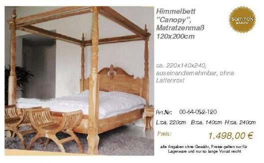 00-64-052-120-Himmelbett _Canopy_, Matrat