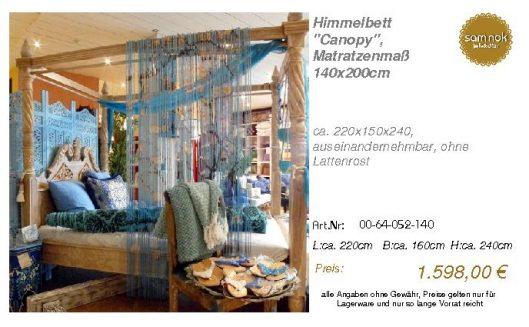 00-64-052-140-Himmelbett _Canopy_, Matrat