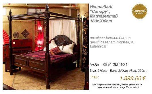 00-64-052-180-1-Himmelbett _Canopy_, Matrat