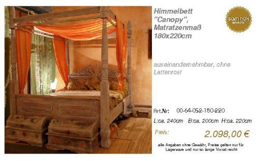 00-64-052-180-220-Himmelbett _Canopy_, Matrat