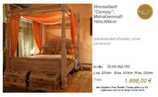 00-64-052-180-Himmelbett _Canopy_, Matrat