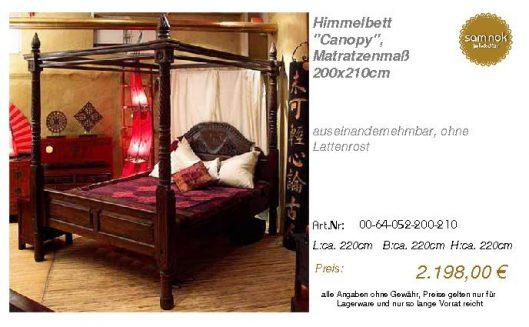00-64-052-200-210-Himmelbett _Canopy_, Matrat