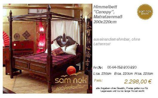 00-64-052-200-220-Himmelbett _Canopy_, Matrat