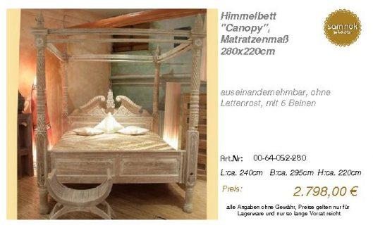 00-64-052-280-Himmelbett _Canopy_, Matrat