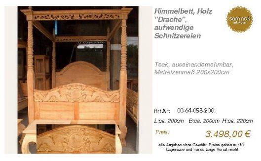 00-64-053-200-Himmelbett, Holz _Drache_,