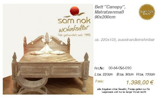 00-64-056-090-Bett _Canopy_, Matratzenmaß