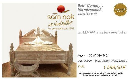 00-64-056-140-Bett _Canopy_, Matratzenmaß