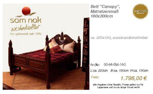 00-64-056-160-Bett _Canopy_, Matratzenmaß