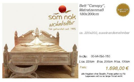 00-64-056-180-Bett _Canopy_, Matratzenmaß