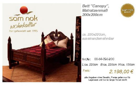 00-64-056-200-Bett _Canopy_, Matratzenmaß