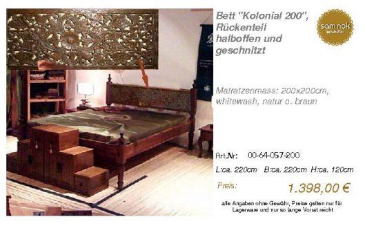00-64-057-200-Bett _Kolonial 200_, Rücken
