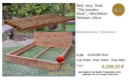 00-64-058-180-E-Bett, recy. Teak, _The wood