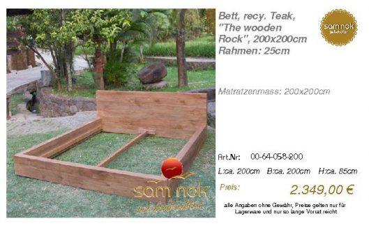 00-64-058-200-Bett, recy. Teak, _The wood