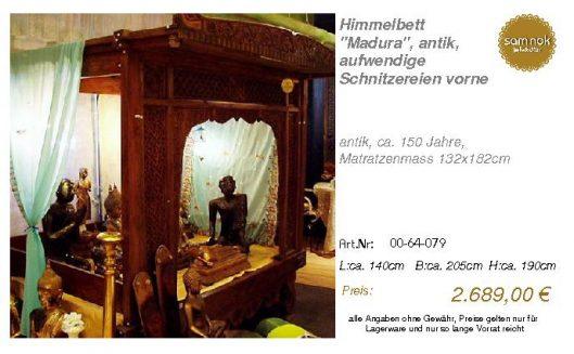 00-64-079-Himmelbett _Madura_, antik,